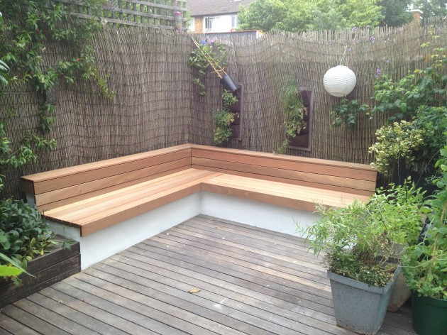Garden seat and decking renovation for Garden renovation ideas